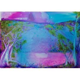 Obraz - American Fine Art - Fantasy violet - Ing. Frederica Henrieta Hegeduš