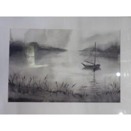 Obraz- Akvarel - Na začiatku cesty - Mgr. Art Kamil Jurašek
