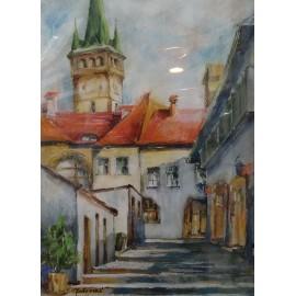Obraz - Kombinovaná technika - Prešovský dvor - Mgr. Margita Rešovská