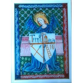 Obraz - Maľba na sklo - Anjel - Mgr.Art.Martina Hricová