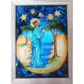 Obraz - Maľba na sklo - Boh stvoriteľ - Mgr.Art.Martina Hricová