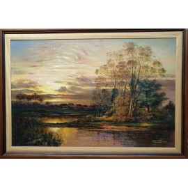 Obraz - Olejomaľba na plátne - Západ Slnka - Peter Treciak