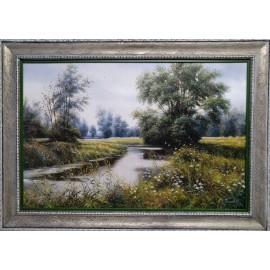 Obraz - Olejomaľba na plátne - Rieka - Peter Treciak