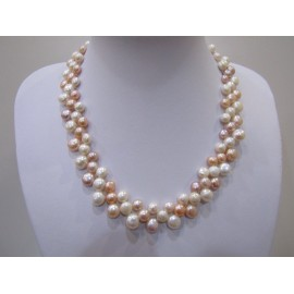 Kultivovaná riečna perla - náhrdelník + Ag 925