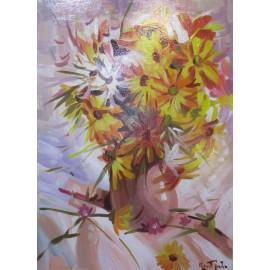 Obraz - Akryl - Žlté kvety - akad. mal. Varuzhan Aghamyan
