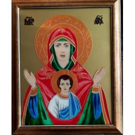 Obraz - Maľba na sklo - Svätý - Jana Gubová