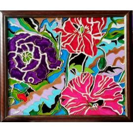 Obraz - Maľba na sklo - Kvety - Jana Gubová