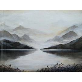 Obraz - Kombinovaná technika - Pokojná krajina - Mgr. Art. Kamil Jurašek