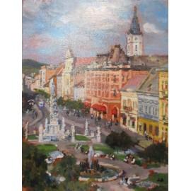 Obraz - Olejomaľba - Košice na Hlavnej - Akad. mal. Ľudmila Studenniková