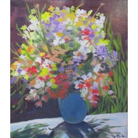 Obraz - Akryl - Poľné kvety - akad. mal. Varuzhan Aghamyan
