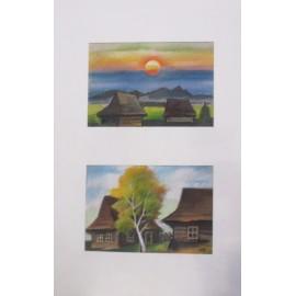 Obraz - Západ slnka za dedinou - Andrej Račko