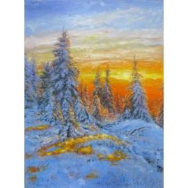 Michal Sabo Balog - Olejomaľba - Zimná krajina