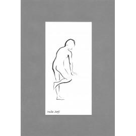 Obraz - Kresba tušom - Akt ženy II. - Mgr. Art Kamil Jurašek