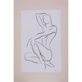 Obraz - Kresba tušom - Žena - Mgr. Art Kamil Jurašek