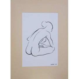 Obraz - Kresba tušom - Žena I. - Mgr. Art Kamil Jurašek