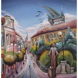 Obraz - Akryl na plátne - Prešov Kristus - Mgr. Lucia Chocholáčková