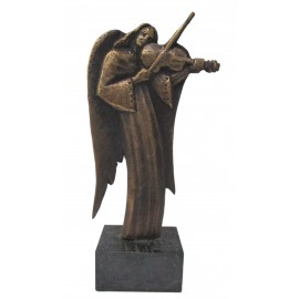 Bronzová socha - Anjel s husľami - akademický sochár Maciek Syrek