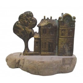 Bronzová socha - Mesto - akademický sochár Maciej Syrek