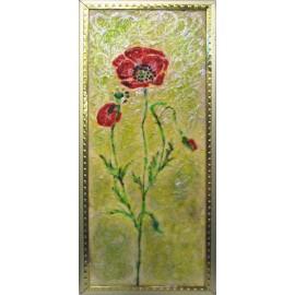 Obraz - Maľba na sklo - Maky - Ing. Irena Kijacová
