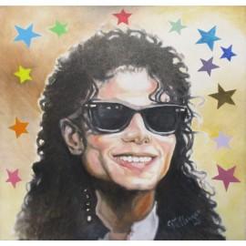 Olejomaľba - Michael Jackson - Imrich Tellinger