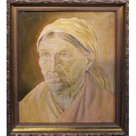 Olejomaľba - Starenka - Imrich Tellinger
