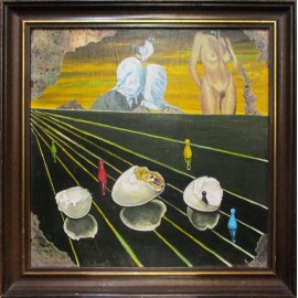 Olejomaľba - Prekvapenie - Imrich Tellinger