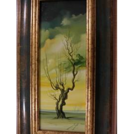 Obraz - Olejomaľba na plátne - Strom 4 - akad. mal. Alexander Jazykov