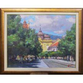 Obraz - Olejomaľba - Košice, Na Hlavnej - akad. mal Timour Karimov