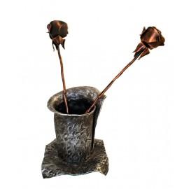 Kovaná plastika , dekorácia-Váza - Juraj Kačurák