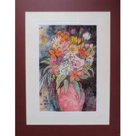 Obraz - Zátišie v ružových farbách - Martina Štecová