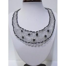 Šperky-Postriebrený drôt- Onyx a korálky - Hand made by Evelynpa