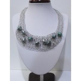 Šperky-Postriebrený drôt- Korálky - Hand made by Evelynpa