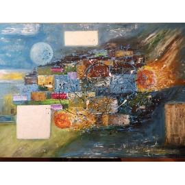 Obraz - Abstraktná maľba - Okná do vesmíru-Bc. Helena Vožňáková
