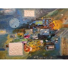 Obraz - Abstraktná maľba - Okno do vesmíru-Bc. Helena Vožňáková