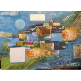 Obraz - Abstraktná maľba - Okná do vesmíru II. -Bc. Helena Vožňáková