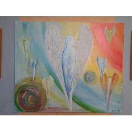 Obraz - Abstraktná maľba -Anjeli zeme- Bc. Helena Vožňáková
