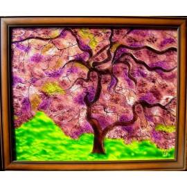 Obraz - Maľba na sklo - Strom - Jana Gubová