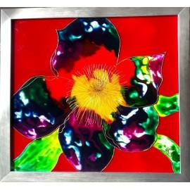 Obraz - Maľba na skle - Kvet - Jana Gubová