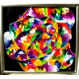 Obraz - Maľba na skle - Ruža - Jana Gubová