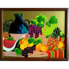 Obraz - Maľba na skle - Zátišie - Jana Gubová