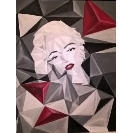 Obraz - Abstraktná maľba - Červená Marilyn -ing. Mária Mikulská