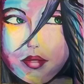 Obraz - Abstraktná maľba -Dúhová Kráska -Ing. Mária Mikulská