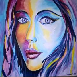 Obraz - Abstraktná maľba -Farebná Kráska -Ing. Mária Mikulská