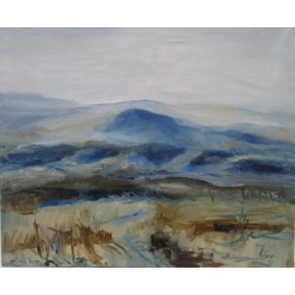 Obraz - Olejomaľba - Krajina pri Kamenici - Monika Vitányi
