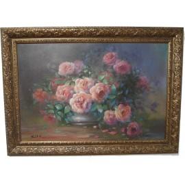 Obraz - Olej na plátne - Zátišie ruží - Peter Treciak