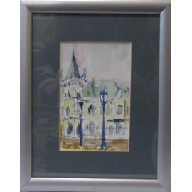 Obraz - Akvarel - Jakabov palác - Ing. arch. Eva Lorenzová