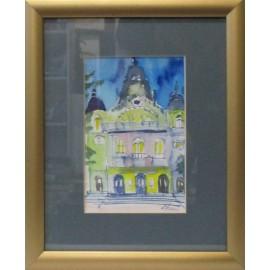 Obraz - Akvarel - Divadlo II - Ing. arch. Eva Lorenzová