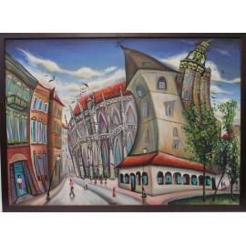 Obraz - Akryl - Urbanova veža - Mgr. Lucia Chocholáčková