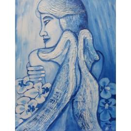 Obraz - Akryl - Modrý anjel - Mgr. Lenka Harvaníková