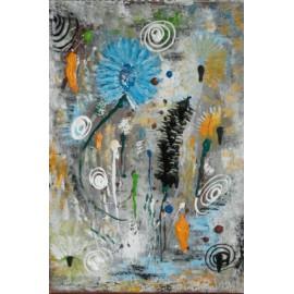 Obraz - Akryl - Modrý kvet - Katarína Haraksimová
